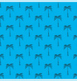 palm tree blue seamless pattern simple of palm vector image