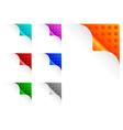 paper corners vector image