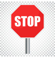 red stop sign icon danger symbol simple business vector image vector image