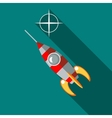 Rocket launch icon in flat style vector image vector image