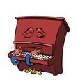 sad romantic emoji character emotion piano musical vector image vector image