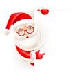 santa claus and blank sheet vector image vector image