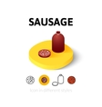 Sausage icon in different style vector image vector image