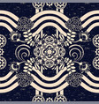 seamless paisley background floral pattern blue vector image vector image