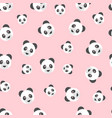 seamless panda bear pattern on pink background vector image vector image