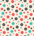 Seamless Retro Flat Design Flowers Background vector image vector image