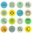 set of 16 ecommerce icons includes withdraw money vector image vector image
