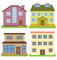 set of four private houses vector image vector image