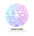 smart home circle concept vector image vector image