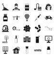 smart house icons set simple style vector image vector image