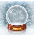 Snowy glass ball vector image vector image