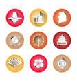 south korea symbols set of icons traditional vector image vector image
