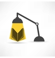 Study with a book and lamp vector image vector image
