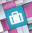 suitcase icon sign Modern flat style for your vector image