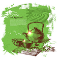 Tea vintage background vector image vector image