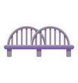 traffic bridge icon cartoon style vector image vector image