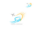 travel agency logo isolated on white background vector image