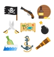 Treasures icons set vector image vector image