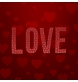 Valentines Day realistic Textile Word Love vector image