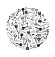 various grayscale keys symbols for open a lock vector image vector image