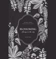 vintage floral template on chalkboard vector image vector image