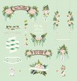 Vintage wedding floral decorative and ornaments vector image vector image