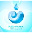 water natural symbol vector image