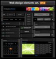 web design elements set black2 vector image vector image