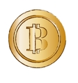 bitcoin golden icon digital money symbol vector image