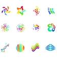 12 colorful symbols set 17 vector image vector image
