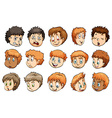 A group of heads vector image vector image