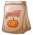 A pack of squash seeds vector image vector image