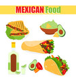 a set mexican vector image vector image