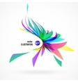 abstract background of colorful fragments vector image vector image