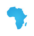africa icon simple flat symbol blue pictograph