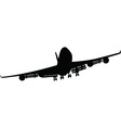 Airplane silhouettes black vector image vector image
