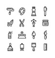 arts and crafts line art editable stroke icons set vector image