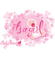 baby shower its a girl congratulations on the vector image