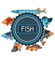 background with various fish image vector image