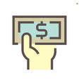 banknote icon design for financial graphic design vector image
