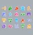 bankruptcy patch sticker icons set vector image vector image