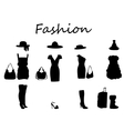 Beautiful fashion dress black white vector image vector image