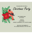 bird frame Christmas invitation vector image vector image
