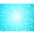 Blue sunny rays background vector image vector image