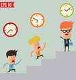 Business man and time management concept vector image