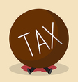 Businessman under heavy tax vector image vector image