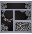 card set round ornamental pattern vector image