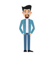 cartoon business man cartoon character young male vector image vector image