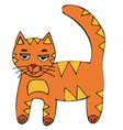 cat red-headed kitten cartoon vector image