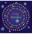 Christmas card with bunting flags vector image vector image